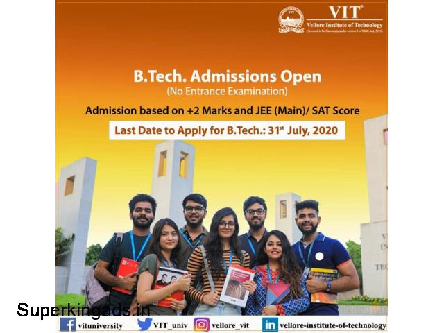 Last Date to Apply for B.tech : 31st July 2020 - 1/1