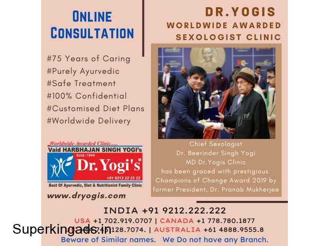 Dr. Beerinder Singh Yogi Chief Sexologist Wins Champions of - 1/1