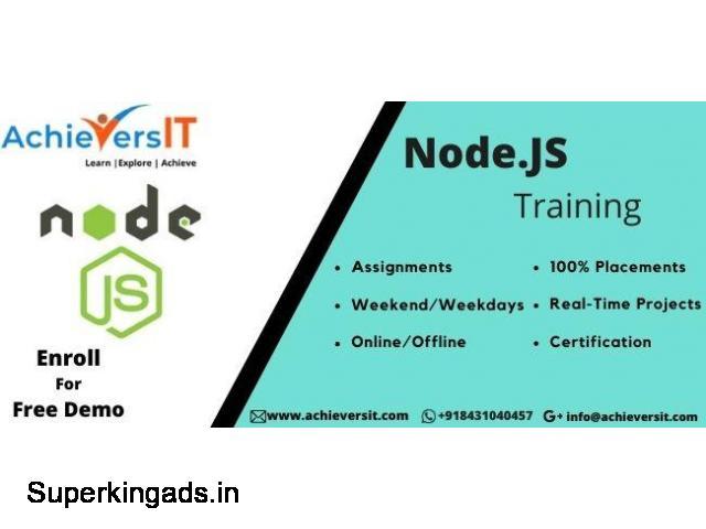 Best nodejs Training institute in Bangalore - 3/4