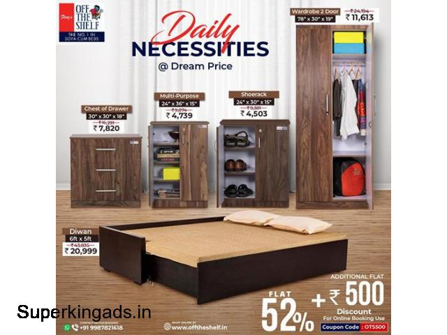 Wooden Beds Online Mumbai | Best Wooden Wardrobe in Mumbai - 1/1