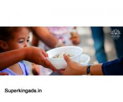Take initiative to donate food to the poor
