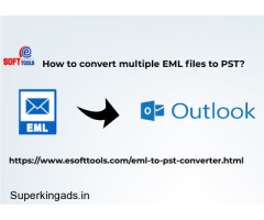 How to convert multiple eml files to pst?